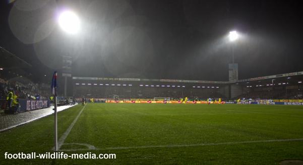Holstein-Stadion in the rain